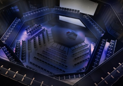 CGI of the recital hall at Sheikh Jaber Al Ahmad Cultural Centre.