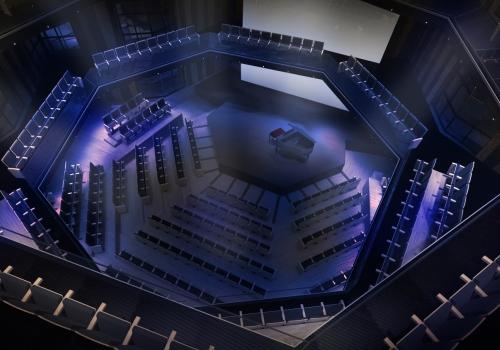 CGI of the recital hall at Sheikh Jaber Al Ahmad Cultural Centre.