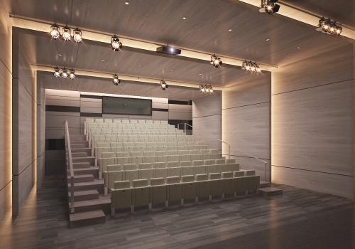 CGI of concert hall, Sheikh Jaber Al Ahmad Cultural Centre.
