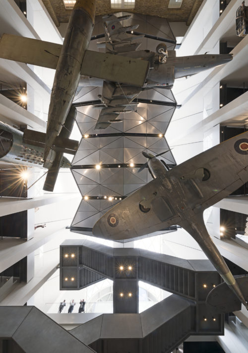 View from below - exhibition at Imperial War Museum London.