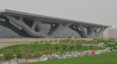 Exterior of the Qatar National Convention Centre