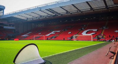 Inside Anfield Stadium.