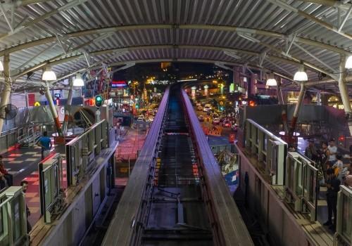 Internal view of Bukit Bintang station.