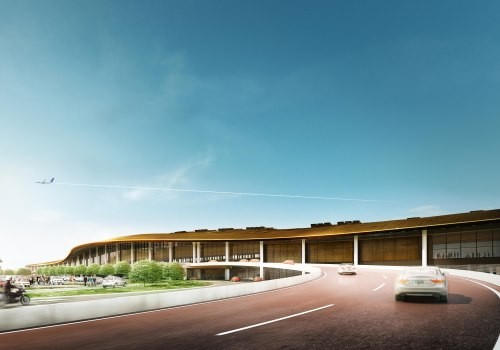 External CGI of Tocumen Airport Panama.