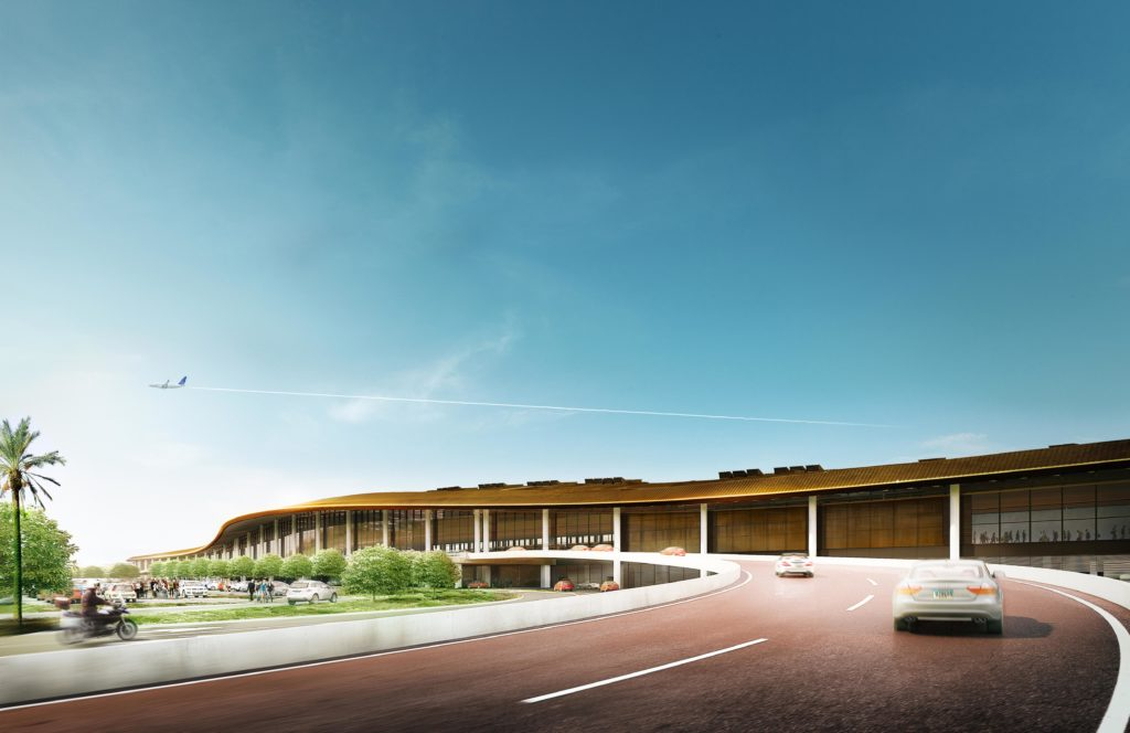 CGI of exterior of Tocumen Airport, Panama.