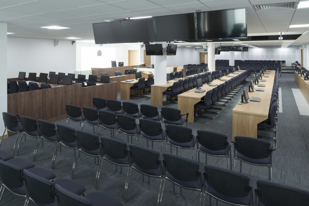Main courtroom, Hillsborough Inquest Court.