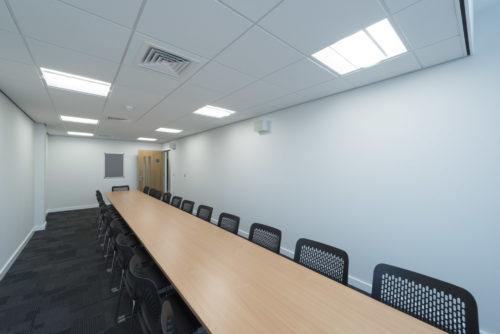 Room at Hillsborough Inquest Court.