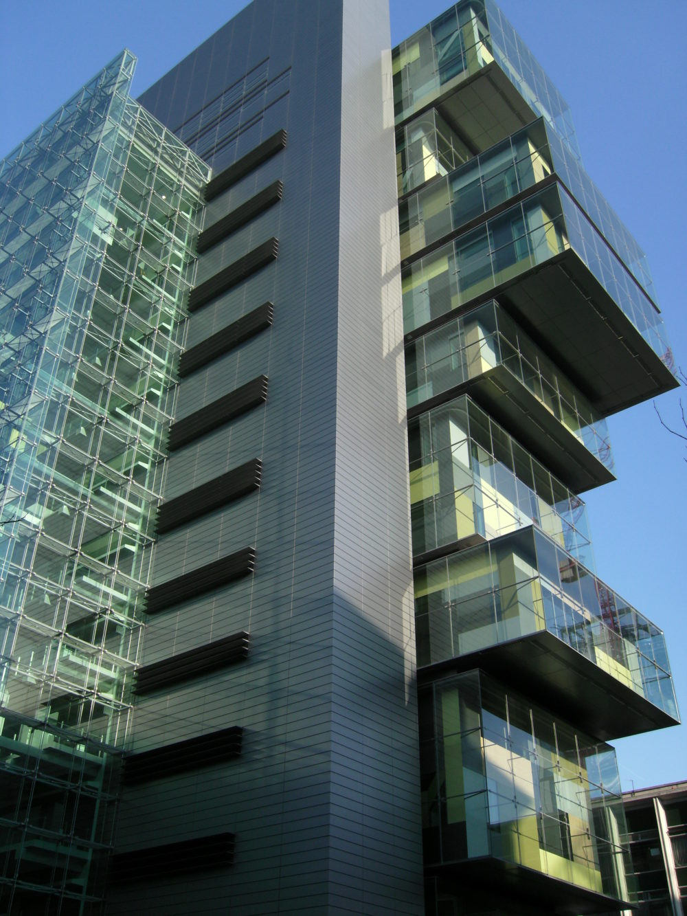 Exterior of the Manchester Civil Justice Centre.