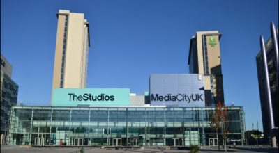 Exterior of the studios at MediaCityUK