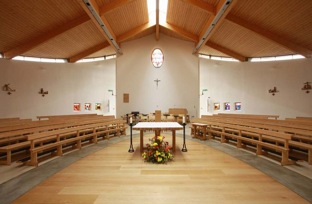 Interior of Our Lady and St Vincent Church.