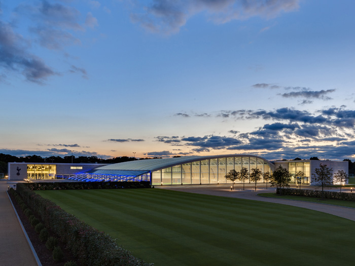 Exterior of the Tottenham Hotspur training facilities.