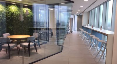 Inside the UBM head office, London.
