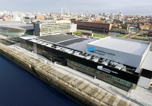 Aerial view of Exhibition Centre Liverpool.