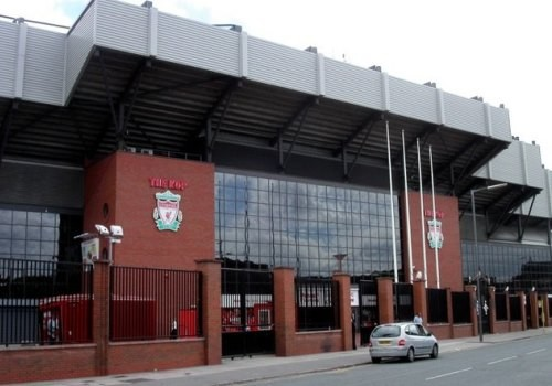 Entrance to Anfield Stadium.