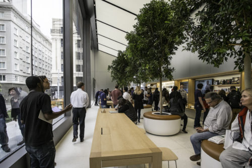 Inside the Apple store San Francisco.